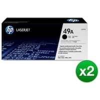 HP 49A Black Original LaserJet Toner Cartridge for US Government (Q5949A)(2-Pack)