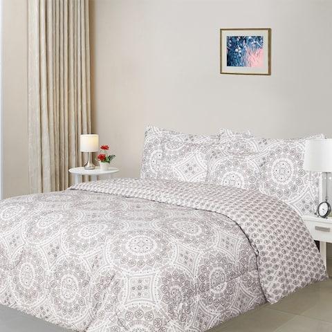 5 Piece Reversible Microfiber Comforter Set