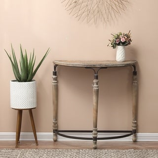 Link to The Gray Barn Robin Road Wood Rustic Half Moon Table Similar Items in Living Room Furniture