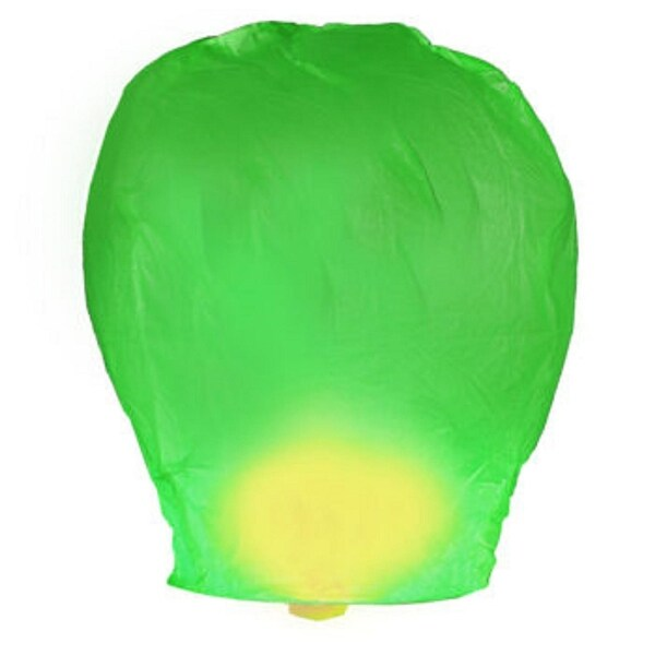 Pack of 4 Asian Inspired Green Chinese Sky Lantern Party Luminaries