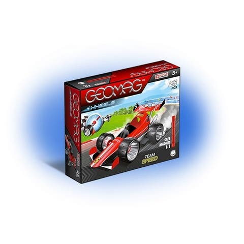 Geomag Wheels Red Team Speed 25 Pieces Construction Set