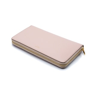 Celine Womens Blush Pink Leather Zip Around Continental Wallet