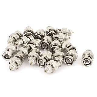 20 Pcs BNC Male Plug to Male Plug Coax Cable Video Adapter Connector