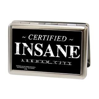 Certified Insane Arkham City Fcg Black White Business Card Holder