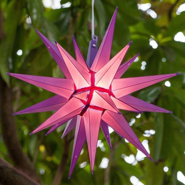 """Wintergreen Lighting 72723 Indoor / Outdoor LED Moravian Star with 60"""" Lead - PURPLE - N/A"""
