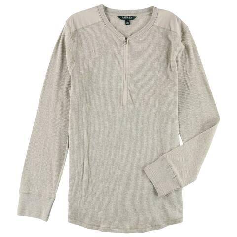 Ralph Lauren Womens Half Zip Basic T-Shirt