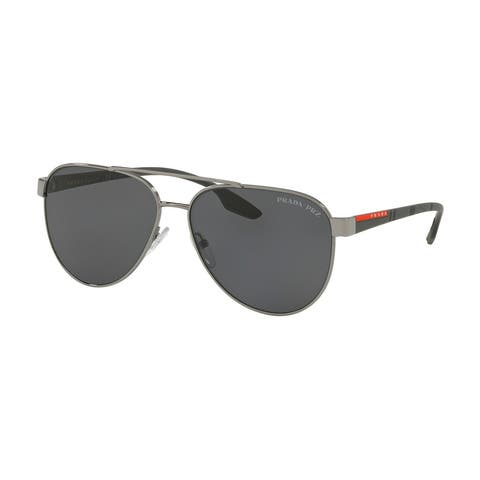 Prada Linea Rossa PS 54TS 5AV5Z1 58 Gunmetal Man Pilot Sunglasses