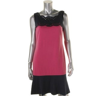 Donna Morgan Womens Eyelet Sleeveless Wear to Work Dress - 10