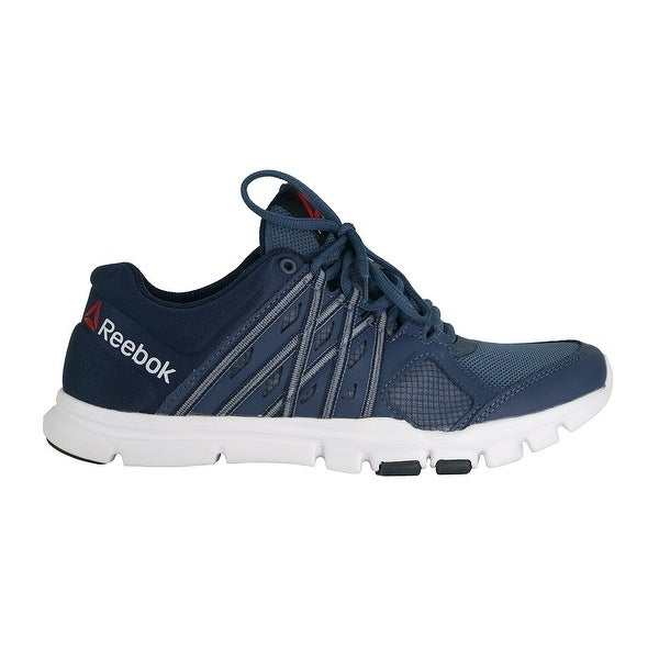 Shop Reebok Men s Yourflex Train 8.0 Athletic Shoe - Navy Blue - 8 - Free  Shipping On Orders Over  45 - Overstock.com - 23548335 e13460f43