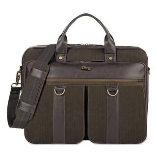 Solo Bradford Briefcase, Olive Denim-Espresso Bradford Briefcase, Olive Denim/Espresso
