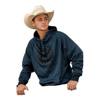 Cinch Western Sweatshirt Mens Pull Over Hoodie Heather Navy