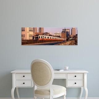 Easy Art Prints Panoramic Images's 'USA, Massachusetts, Boston, Longfellow Bridge' Premium Canvas Art