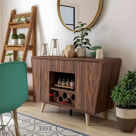 Furniture of America Hai Transitional Walnut 2-cabinet Buffet