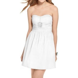 Be Bop Womens Juniors Casual Dress Strapless A-Line (Option: Xs)