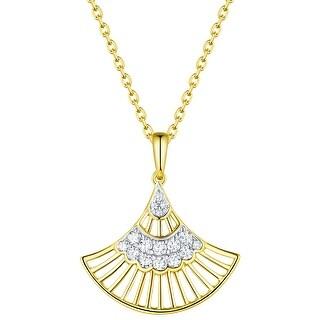 Prism Jewel 0.20Ct G-H/I1 Natural Diamond Hand Fan Style Pendant
