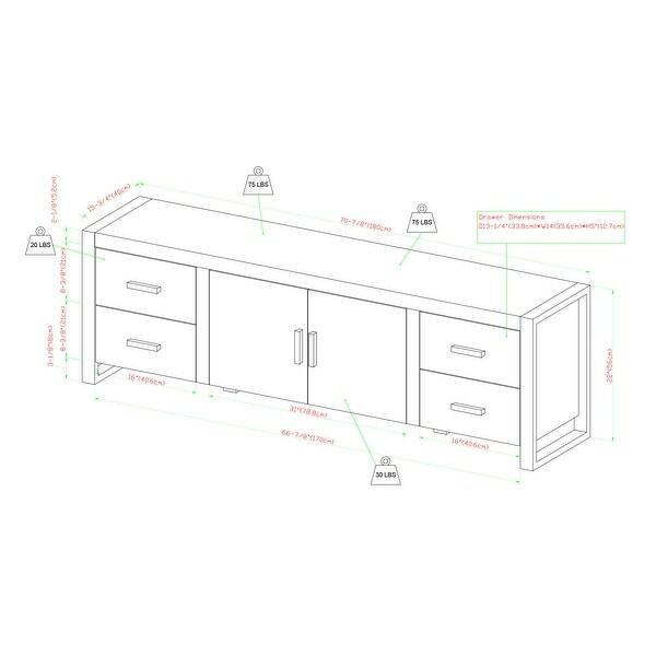 Carbon Loft Burke 70-inch Driftwood Urban TV Stand Console