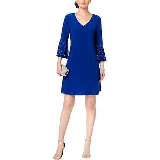 MSK Womens Party Dress Embellished Bell Sleeves