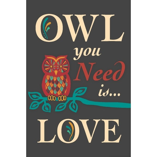 Owl You Need Is Love - LP Artwork (Light Switchplate Cover)