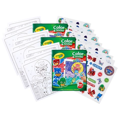 Color & Sticker Book, PJ Masks, Pack of 3