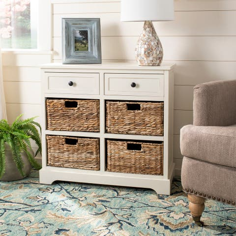 "Safavieh Cape Cod 6-Drawer Cream Storage Unit - 29.9"" x 13"" x 27.6"""