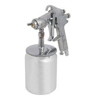 W-71 1.5mm Nozzle Spray Gun Sprayer Paint Tool Silver Tone