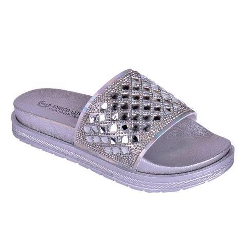 Enrico Coveri Women Dena Diamond Fashion Sandals