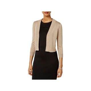 Jessica Howard Womens Shrug Sweater Glitter Bracelet Sleeves - S