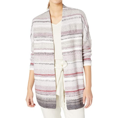 Nic + Zoe Women's Sweater Gray Size Medium M Cardigan Open Front