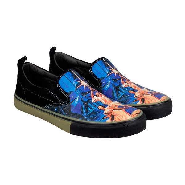 Skechers Star Wars The Menace A New Hope Mens Canvas Black Loafers Shoes