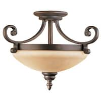 Millennium Lighting 1212 Oxford 2 Light Semi-Flush Ceiling Fixture