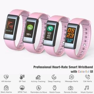 Indigi Fitness Watch Smart Bracelet & Wristband - Bluetooth 4.0 w/ Heart Rate / Blood Pressure / Sleep Monitor / Calorie Counter