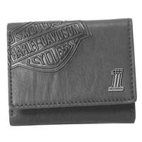 "Harley-Davidson Mens Bar & Shield Classic Trifold Wallet, Black CR2352L-Black - 4.25"" x 3.5"""