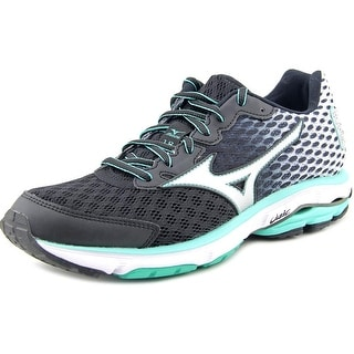 Mizuno Wave Rider 18 Women 2A Round Toe Synthetic Black Running Shoe