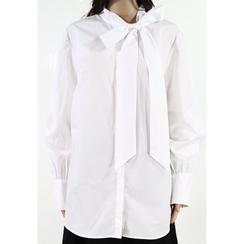 Lauren by Ralph Lauren Womens Button Down Top White Size 2X Plus