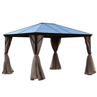 ALEKO Hardtop Gazebo w/ Removable Mesh Walls - 10' x 12'