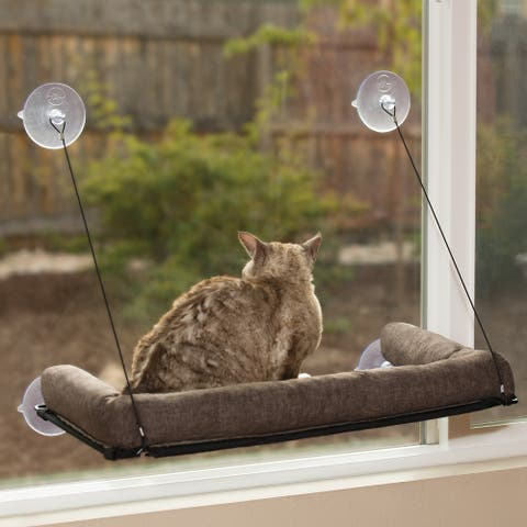 K&H Pet Products EZ Mount Kitty Sill Deluxe with Bolster