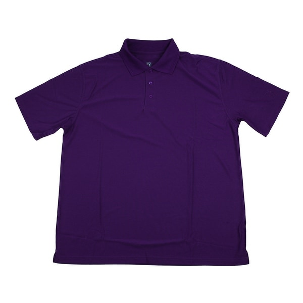 PGA TOUR Men's Polo Shirt - Plum Solid - 3X Large