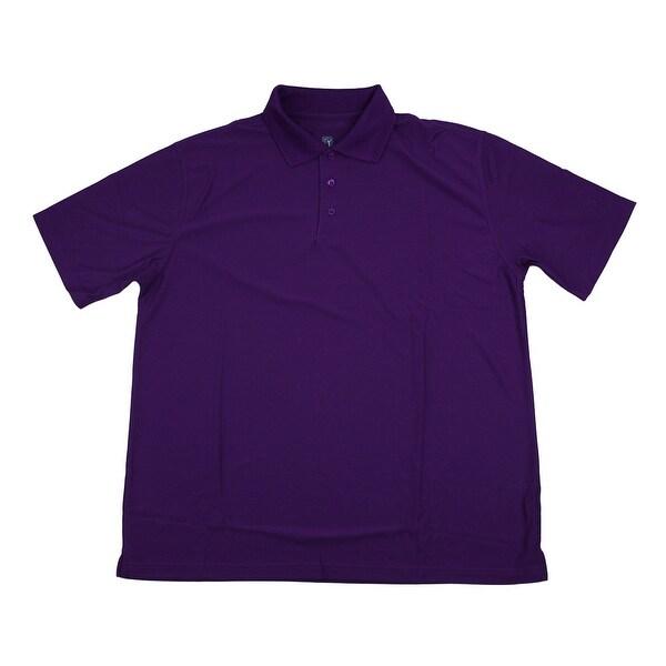 PGA TOUR Men's Polo Shirt - Plum Solid - X-Large