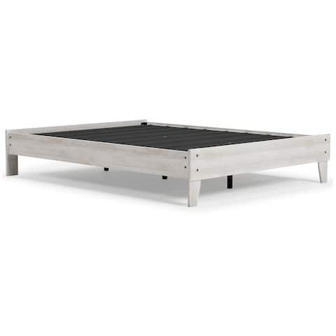 Shawburn White/Dark Charcoal Gray Platform Bed