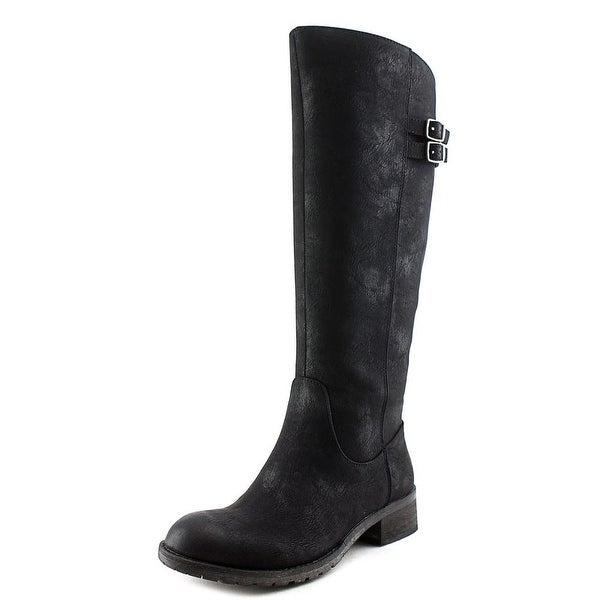 Very Volatile Mira Women Round Toe Leather Knee High Boot