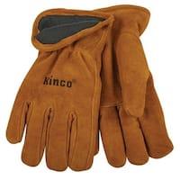 Kinco 50RL-M  Thermal Lined Cowhide Gloves, Medium, Brown