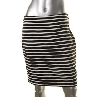 Sanctuary Womens Juniors Cotton Striped Pencil Skirt - XS