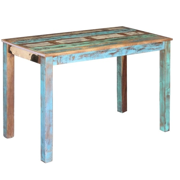 """vidaXL Dining Table Solid Reclaimed Wood 45.3""""x23.6""""x30"""" - multi-color. Opens flyout."""