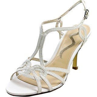 Nina Glennis Women Open Toe Canvas White Sandals