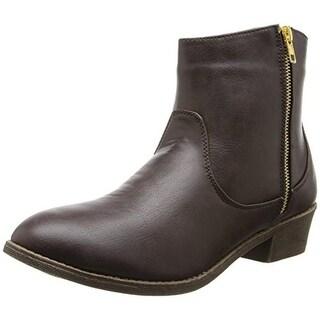 Diba Girl Womens Pine City Ankle Boots Round Toe Block Heel