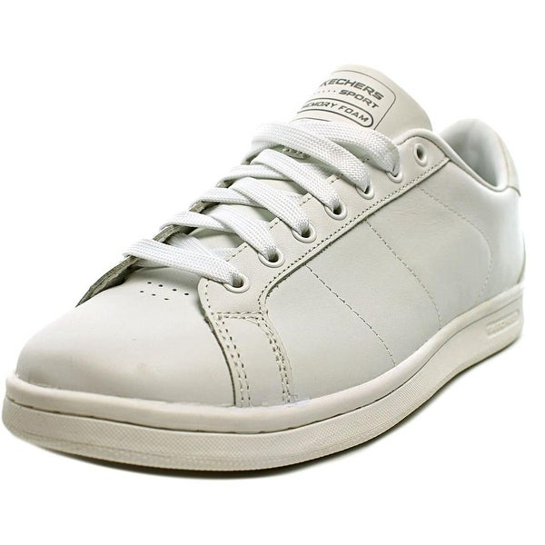 Skechers Omne Men Round Toe Leather White Sneakers