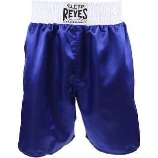 Cleto Reyes Satin Classic Boxing Trunks - Blue/White