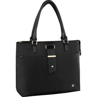 "SwissGear 600772 Swissgear Carrying Case (Tote) for 16"" Notebook - Black - Scratch Resistant Interior - Shoulder Strap|https://ak1.ostkcdn.com/images/products/is/images/direct/1bc68150d5cec2d5329ac887f069cbd46d12a1de/SwissGear-600772-Swissgear-Carrying-Case-%28Tote%29-for-16%26quot%3B-Notebook---Black---Scratch-Resistant-Interior---Shoulder-Strap.jpg?impolicy=medium"