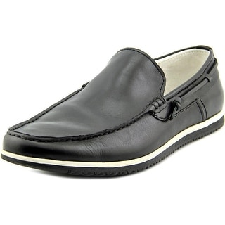 Kenneth Cole NY Holy Joe Men  Round Toe Leather Black Loafer