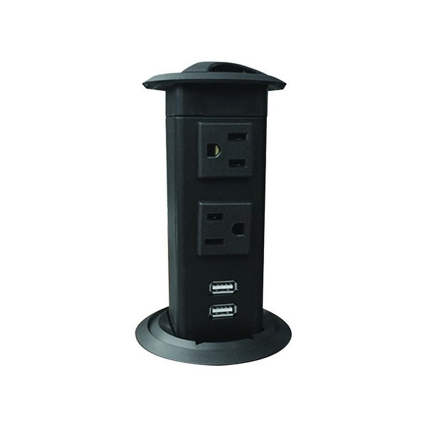 Hafele 822 99 340 Two Outlet Pop Up Station With Usb Charging Ports